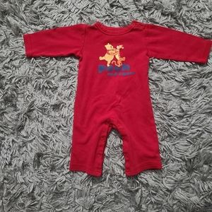Disney Store Red Pooh and Tigger Jumper 6M